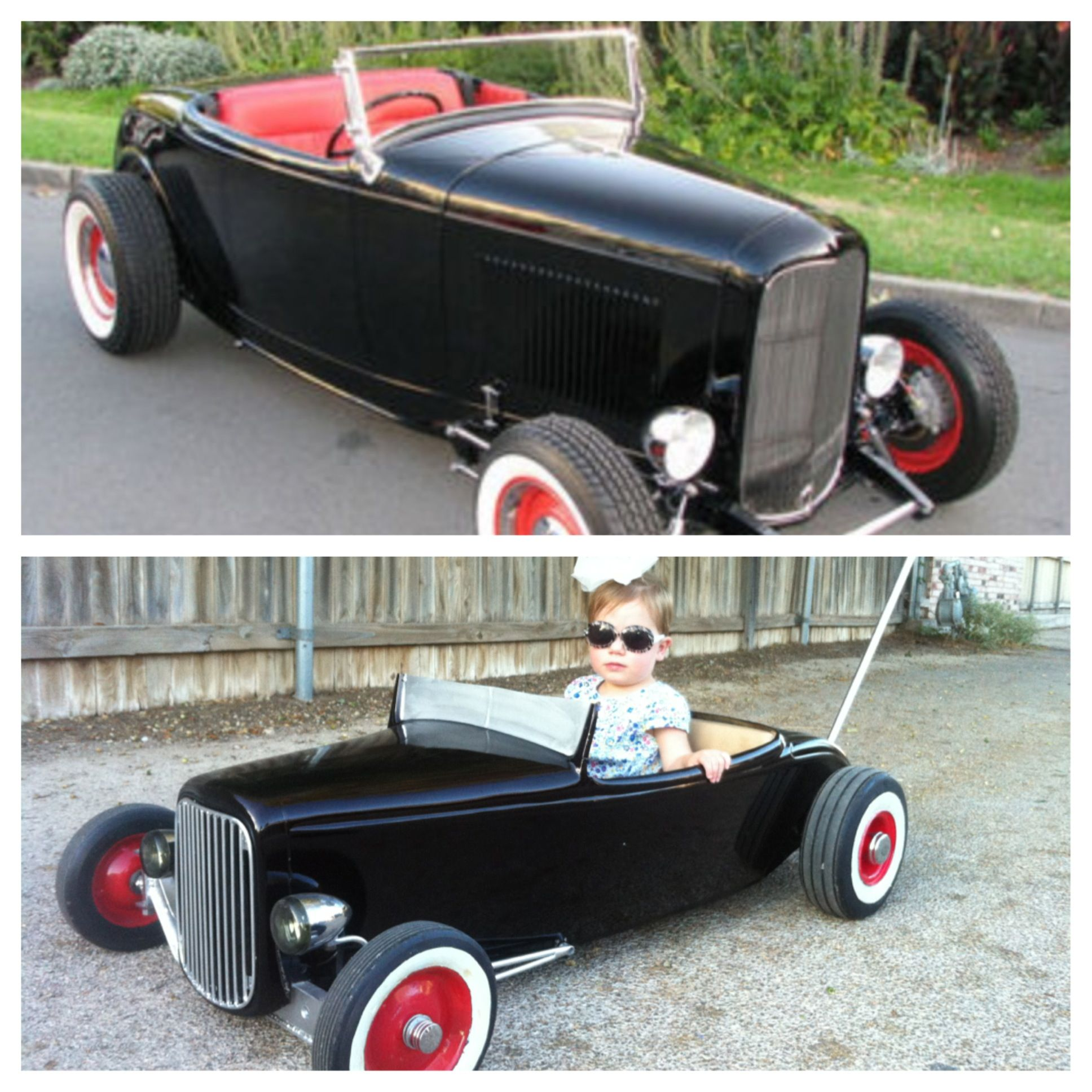 Big vs Small. The top pic was my inspiration for the Hot Rod ...
