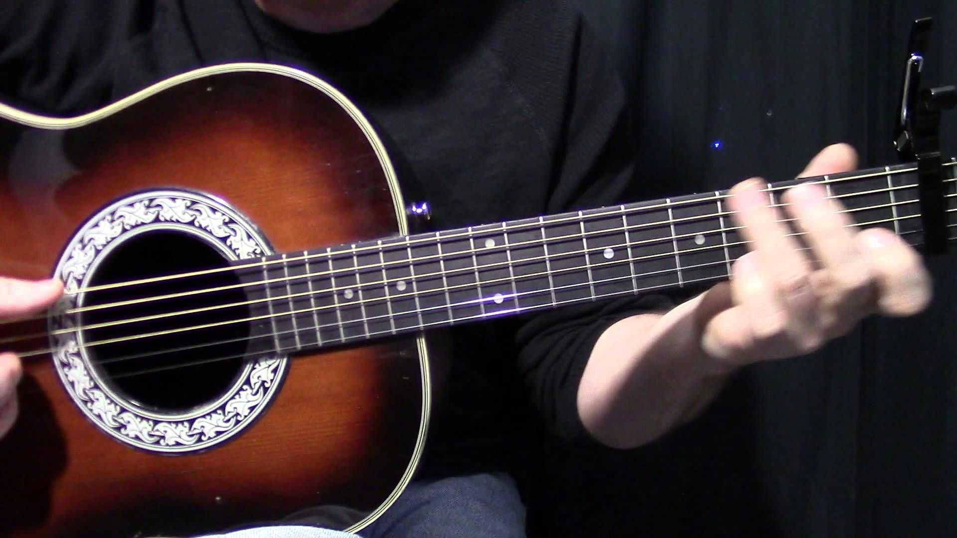 Fleetwood Mac Landslide how to play acoustic guitar