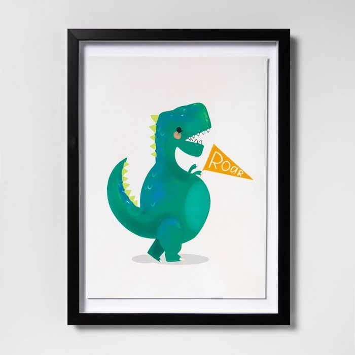 12 X16 Dinosaur Framed Wall Art Pillowfort In 2021 Framed Wall Art Boy Room Art Pillow Fort