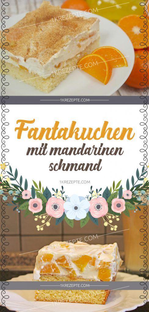 Fanta cake with tangerine sour cream