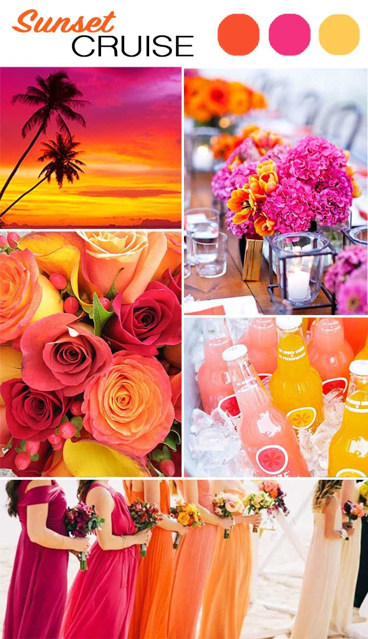 The top 5 color palettes for your summer wedding wilkie for Summer wedding color combinations
