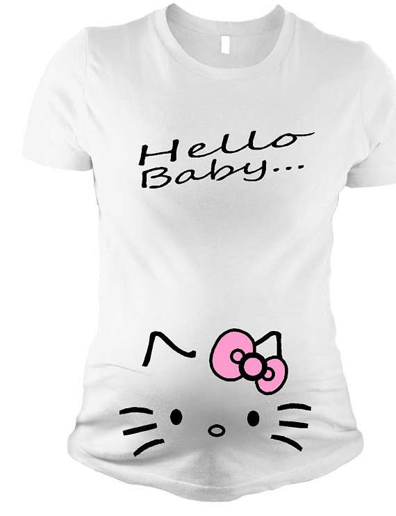 a18ca2ab47e Pregnancy Announcement Hello Kitty Maternity Shirt Pregnancy