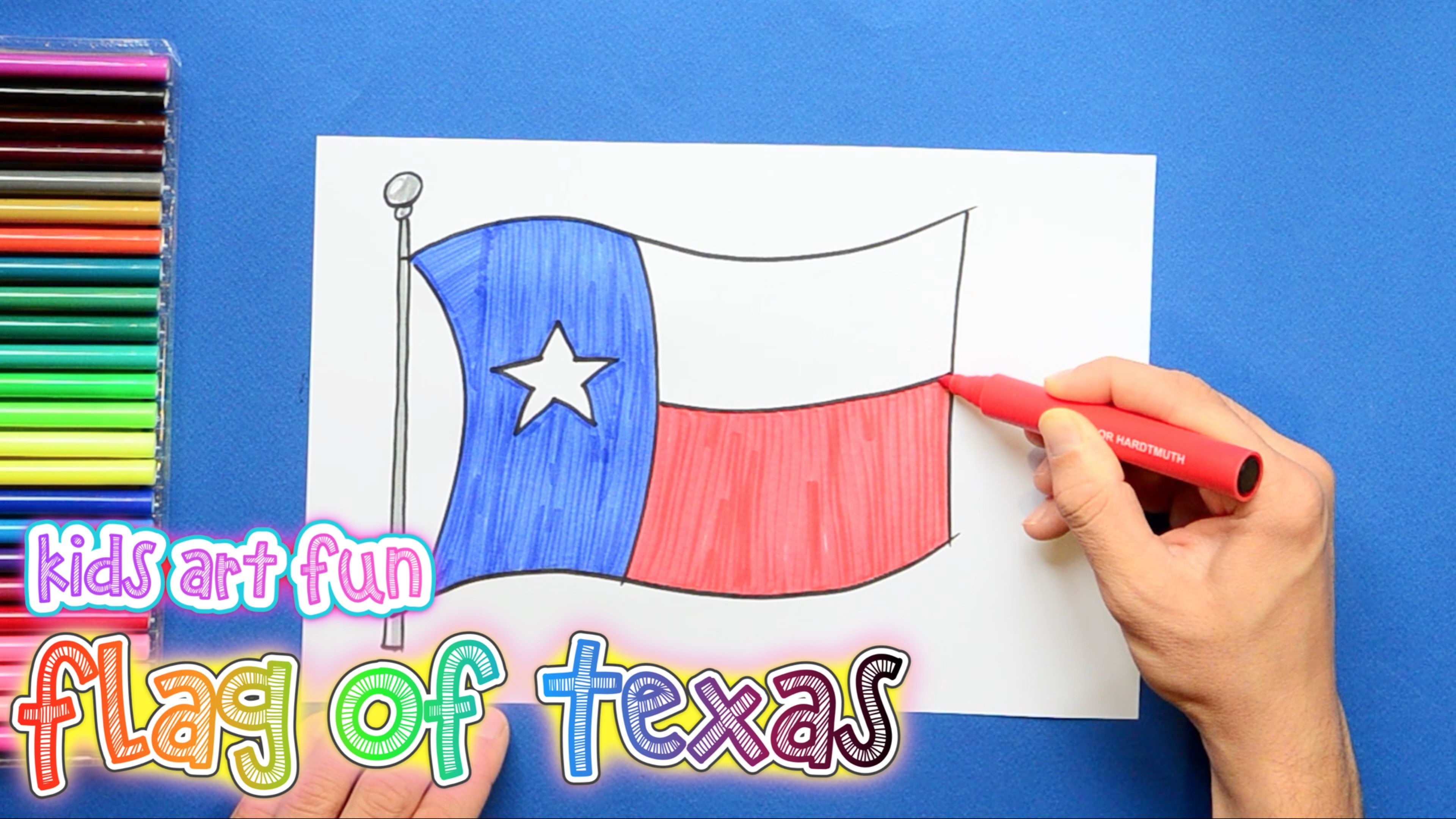 How To Draw And Color The State Flag Of Texas Flag Drawing Flag Drawings