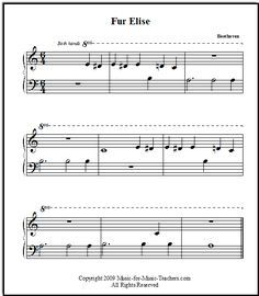 Fur Elise Very Easy Arrangement For Beginning Piano Players Just