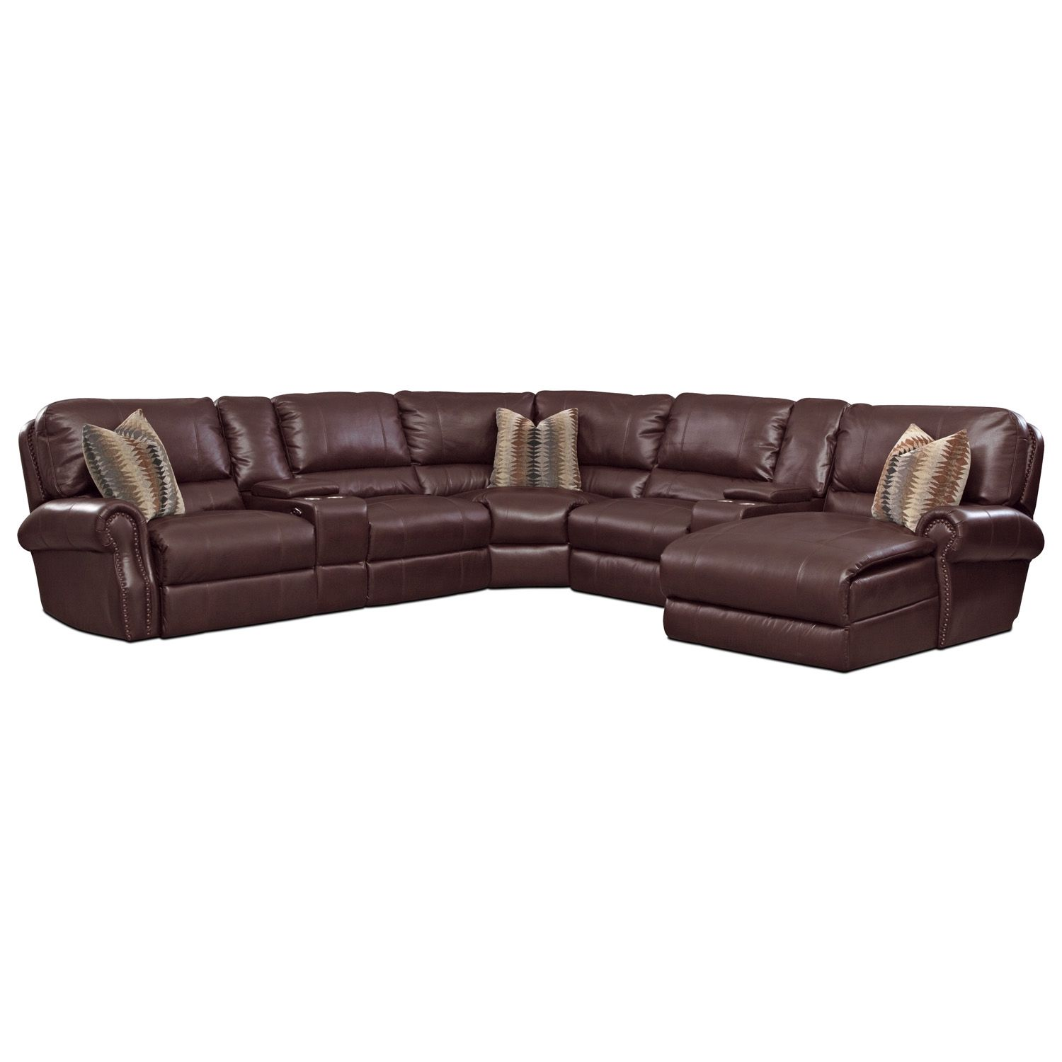 American Signature Furniture - Princeton Leather 5 Pc. Power ...