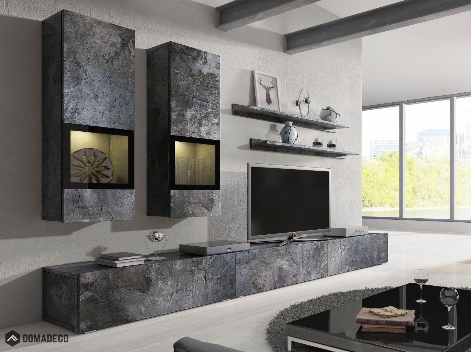 Contemporary Wall Units | Oak Wall Unit | Wall Units For Tv | Living Room  Wall