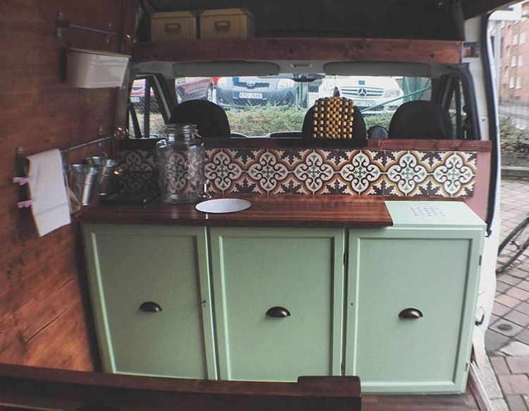 """vanlife by #vanlifers on Instagram: """"Courtesy by @campercavana Thanks for TAG us! #vanlifers @vanlifers Original caption: """"Our kitchen is finally done!"""" . . . #kitchenstyle…"""""""