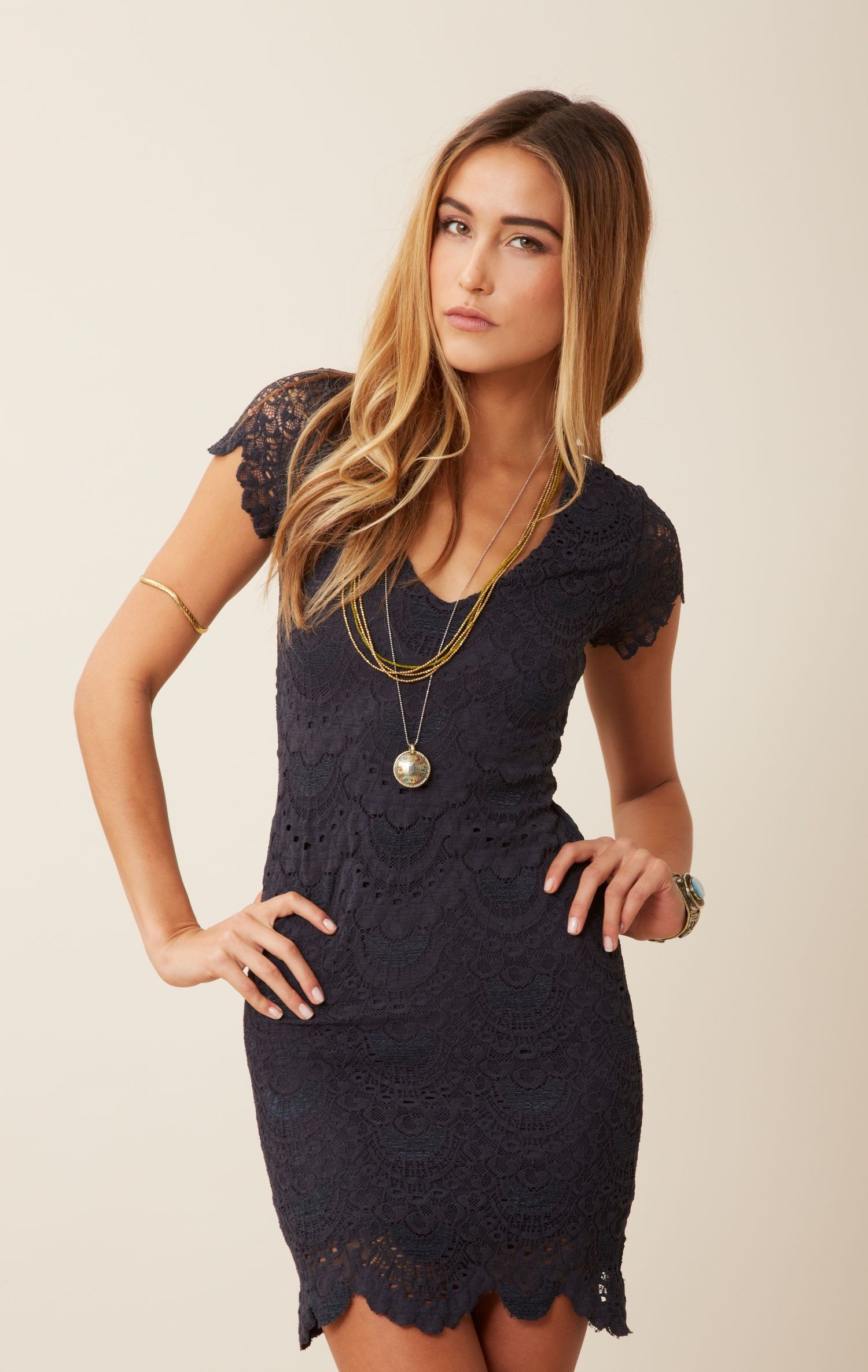 Spanish Lace Cap Sleeve Dress | Sleeved dress, Cap and Clothes