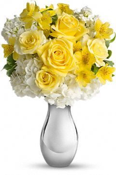 Soft Yellow Roses White Hydrangea And Other Favorites Showcased