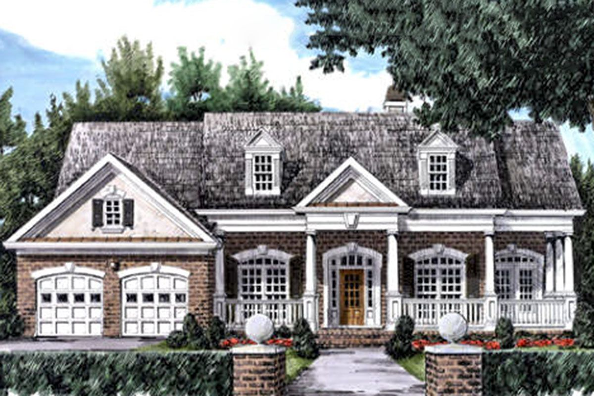 Plan 710329btz One Story House Plan With Rocking Chair Front Porch In 2021 Porch House Plans House Front Porch Rocking Chair Front Porch