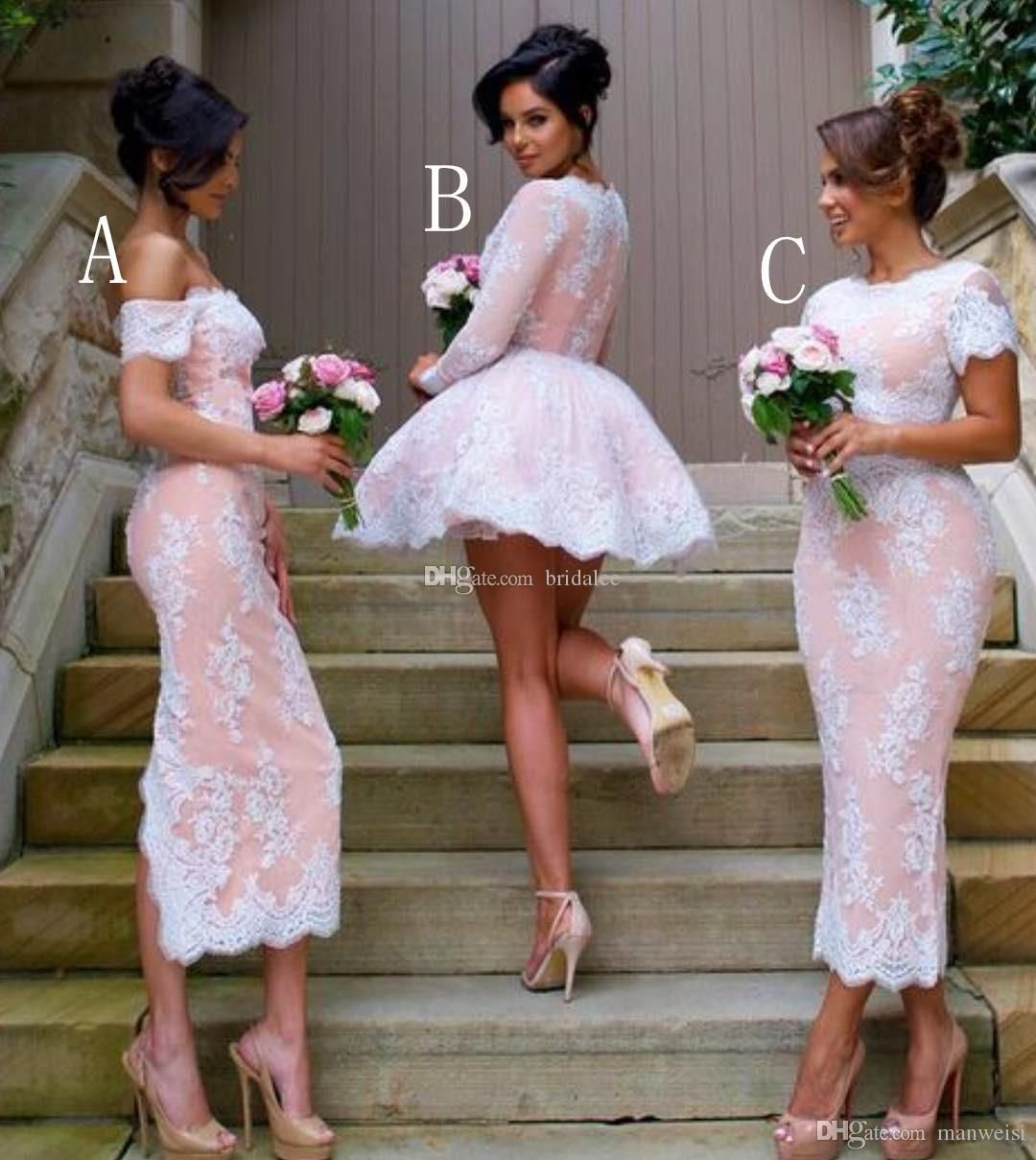 Mulit Style Long Sleeve Lace Bridesmaid Dresses Cheap V Neck Wedding Party Gowns Plus Size Maid Of Honor Gown From Bridalee 83 47 Dhgate Com Long Sleeve Lace Bridesmaid Dresses Unique Bridesmaid [ 1209 x 1080 Pixel ]