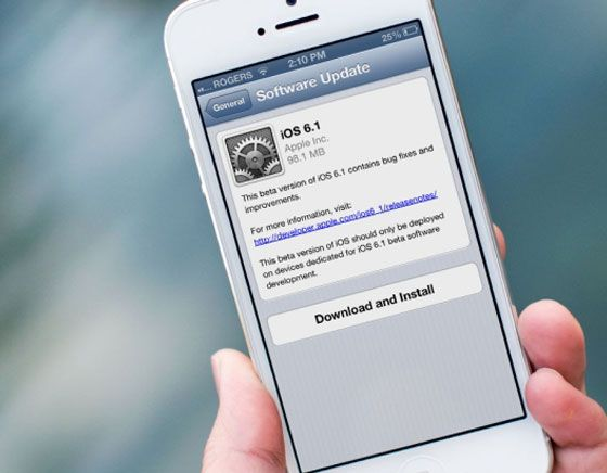 Apple releases iOS 6.1 to iPhone, iPad and iPod Touch. / #4GLTE
