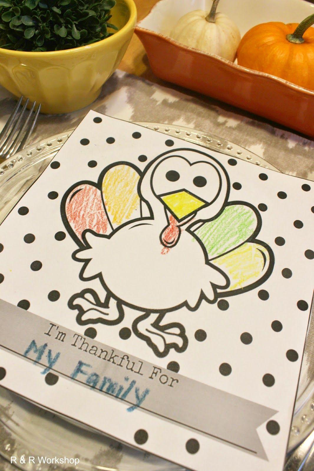 Kids Thanksgiving Coloring Page Free Printable