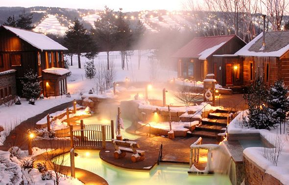 Winter Weekend Escapes From Toronto Can Provide The Brief Respite Required To Endure The Long Hard Season Not All Of Us Have The Ti In 2019 Ontario Travel Outdoor Spa Blue Mountain