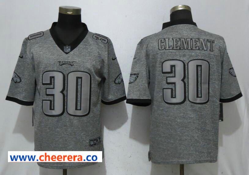 5cd038987 Nike Philadelphia Eagles 30 Corey Clement Gray Gridiron Gray Vapor  Untouchable Limited Jersey