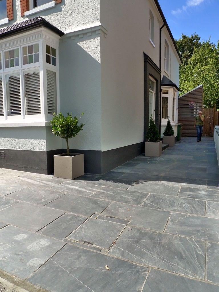 Slate paving patio driveway London | London Garden Design | Front ...