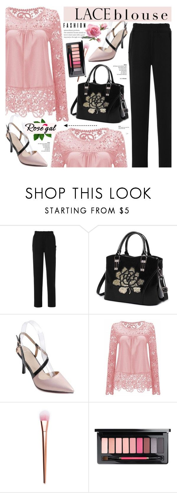 """Rosegal-lace blouse"" by cly88 ❤ liked on Polyvore"