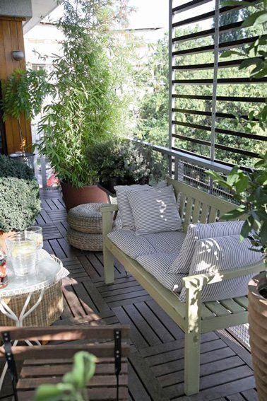 10 d corations de balcon pour vous prot ger du vis vis balcon pinterest balcon deco - Isoler son jardin des regards ...