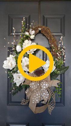 Photo of Signature Magnolia Wreath, Spring Magnolia Wreath Magnolia wreaths are one of th…