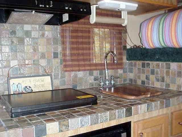 Small Slate Tile Countertops