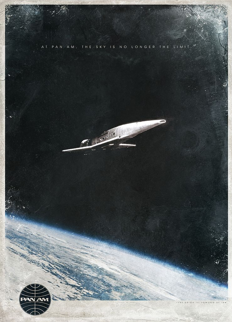 Designer Justin van Genderen created these throwback posters for Stanley Kubrick's 2001: A Space Odyssey, one for the mutinous HAL computer and another for a speculative Pan Am space travel business: