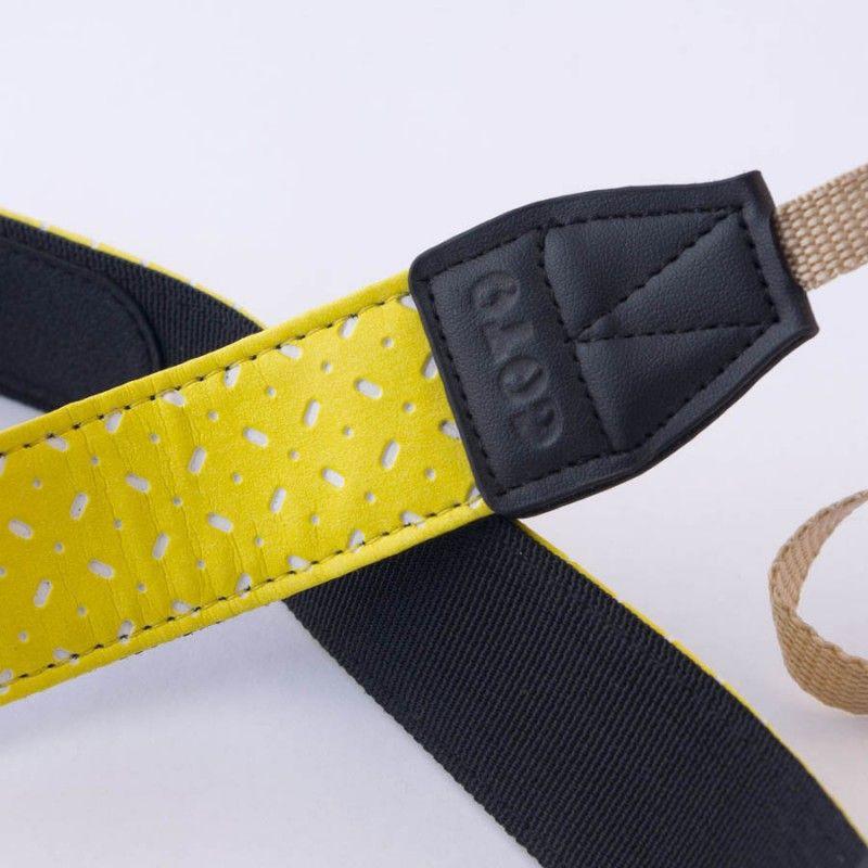 DSLR Camera Strap by Goto - Yellow & White - Nice Pattern
