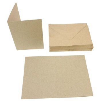 Papermania 50pk Brown A6 Card Blanks: Amazon.co.uk: Office Products