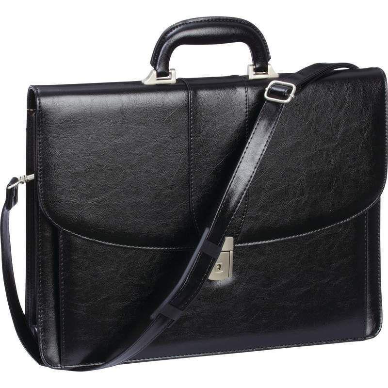 Black Professional Business Briefcase, Womens Attache Case Men ...