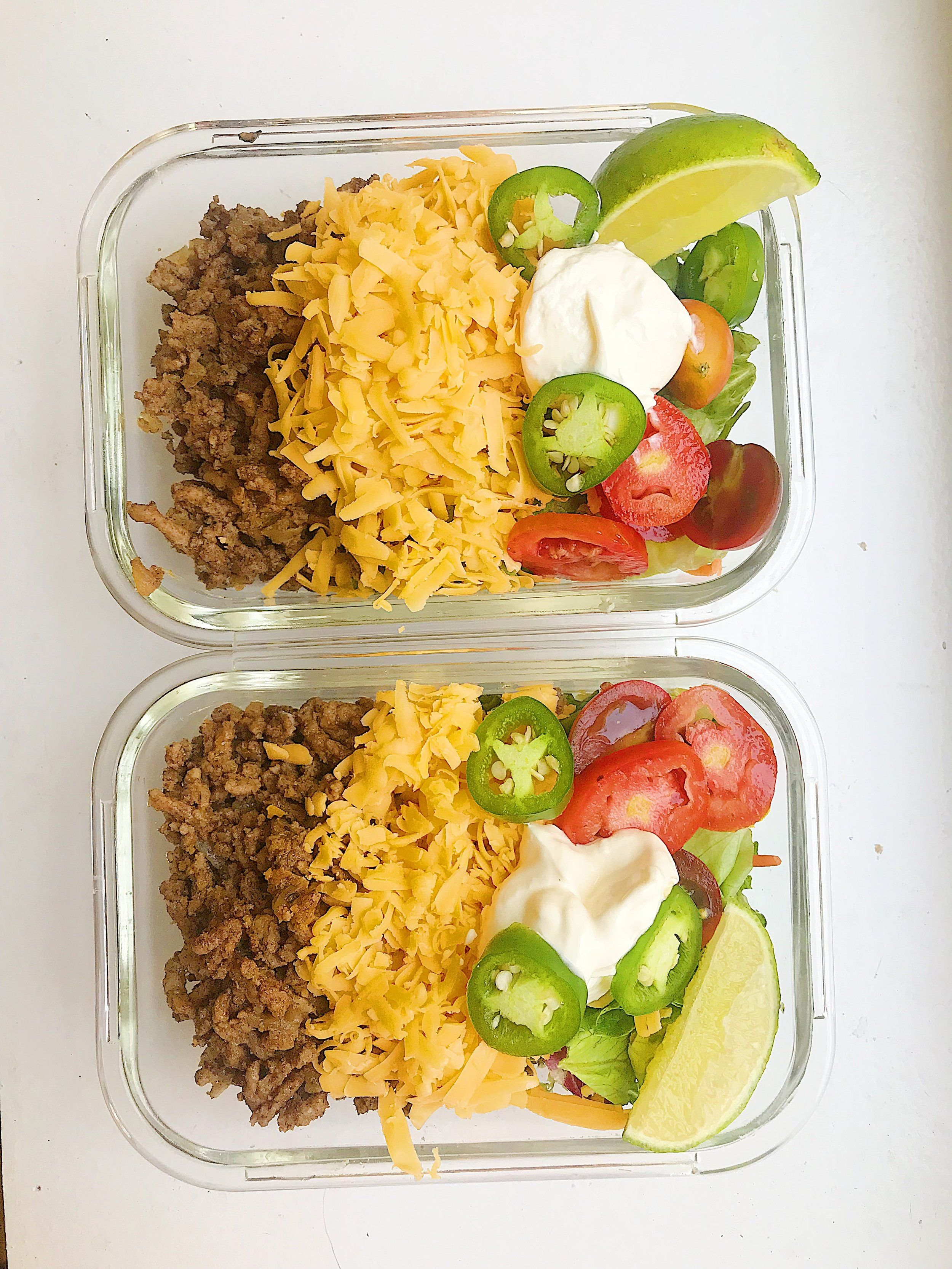 Keto taco salad easy keto ground beef recipe megan