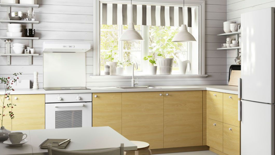 Ikea Kitchen Birch kitchen with haganÄs birch drawer fronts and drawers | kitchens
