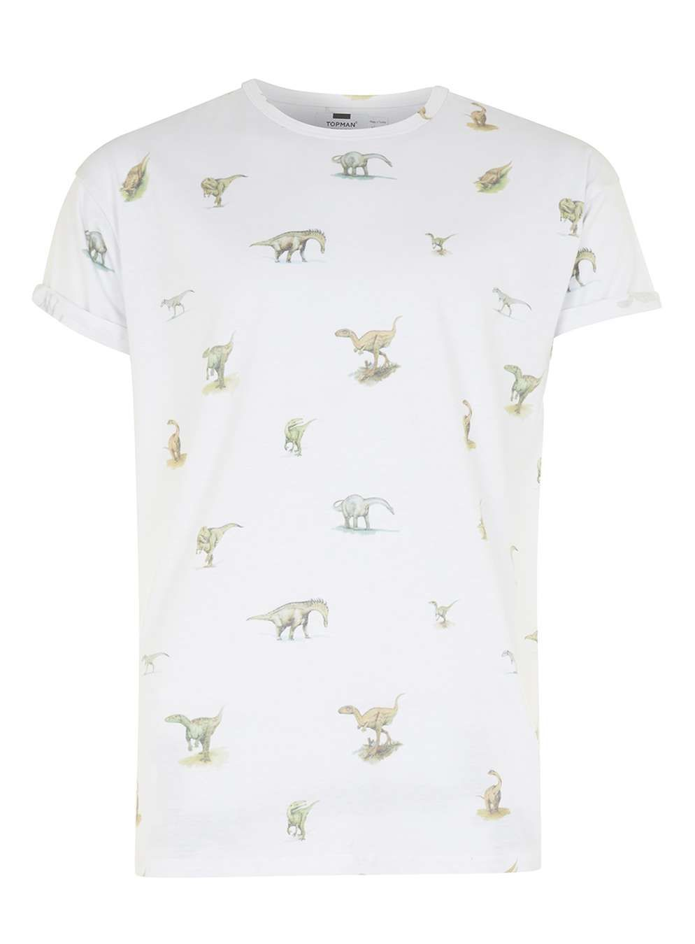 Black t shirt topman - White Dinosaur Print T Shirt Men S T Shirts Vests Clothing