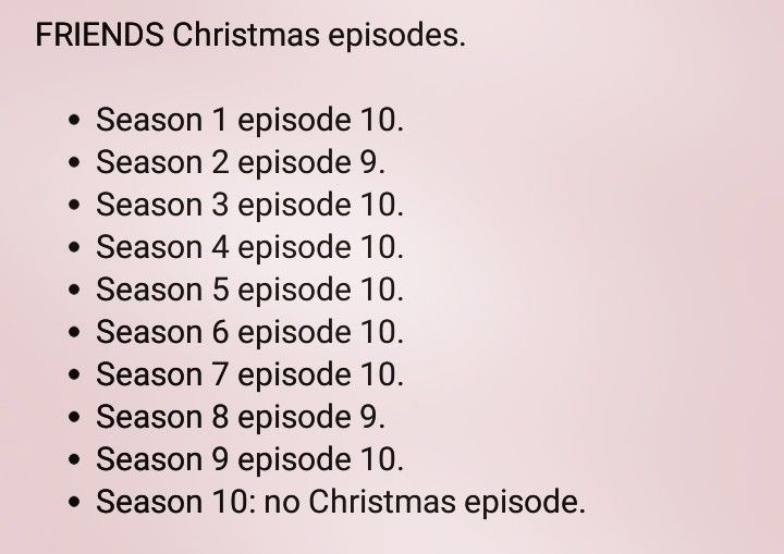 Friends Christmas Episodes.All The Christmas Episodes Of The Tv Show Friends Friends
