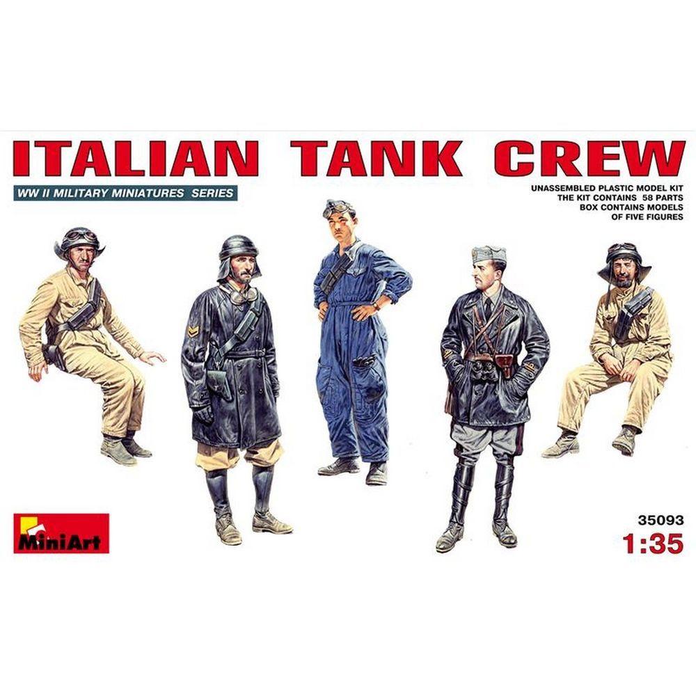 Italian Tank Crew WWII Plastic Model Kit 1/35 by MiniArt 35093 #MiniArt
