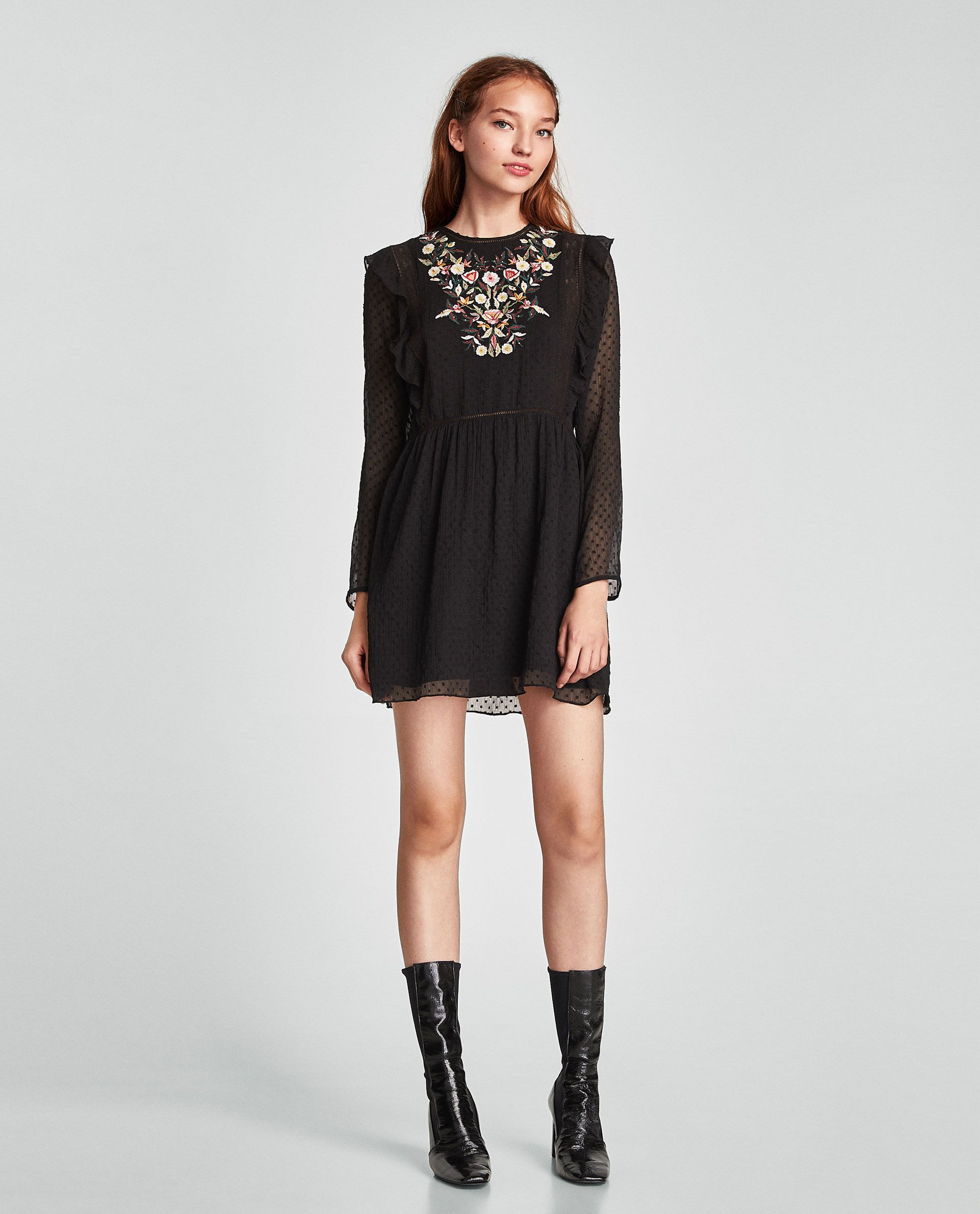 Vestido negro zara trafaluc