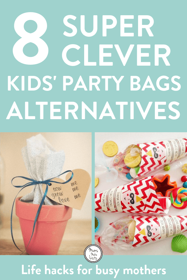 Alternative Party Bag Ideas For Kids Party Bags Kids Birthday Favors Kids Party Favors For Kids Birthday