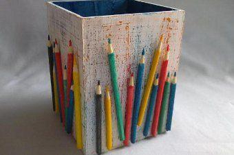 Volta às aulas: em passo a passo, saiba como fazer um colorido porta-lápis
