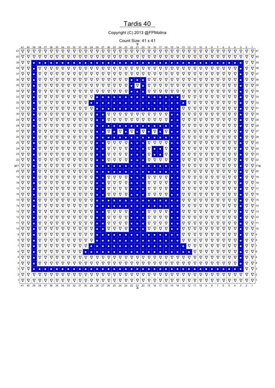 A couple of Tardis stitch PDF graphs. Doctor Who | Knit, crochet ...