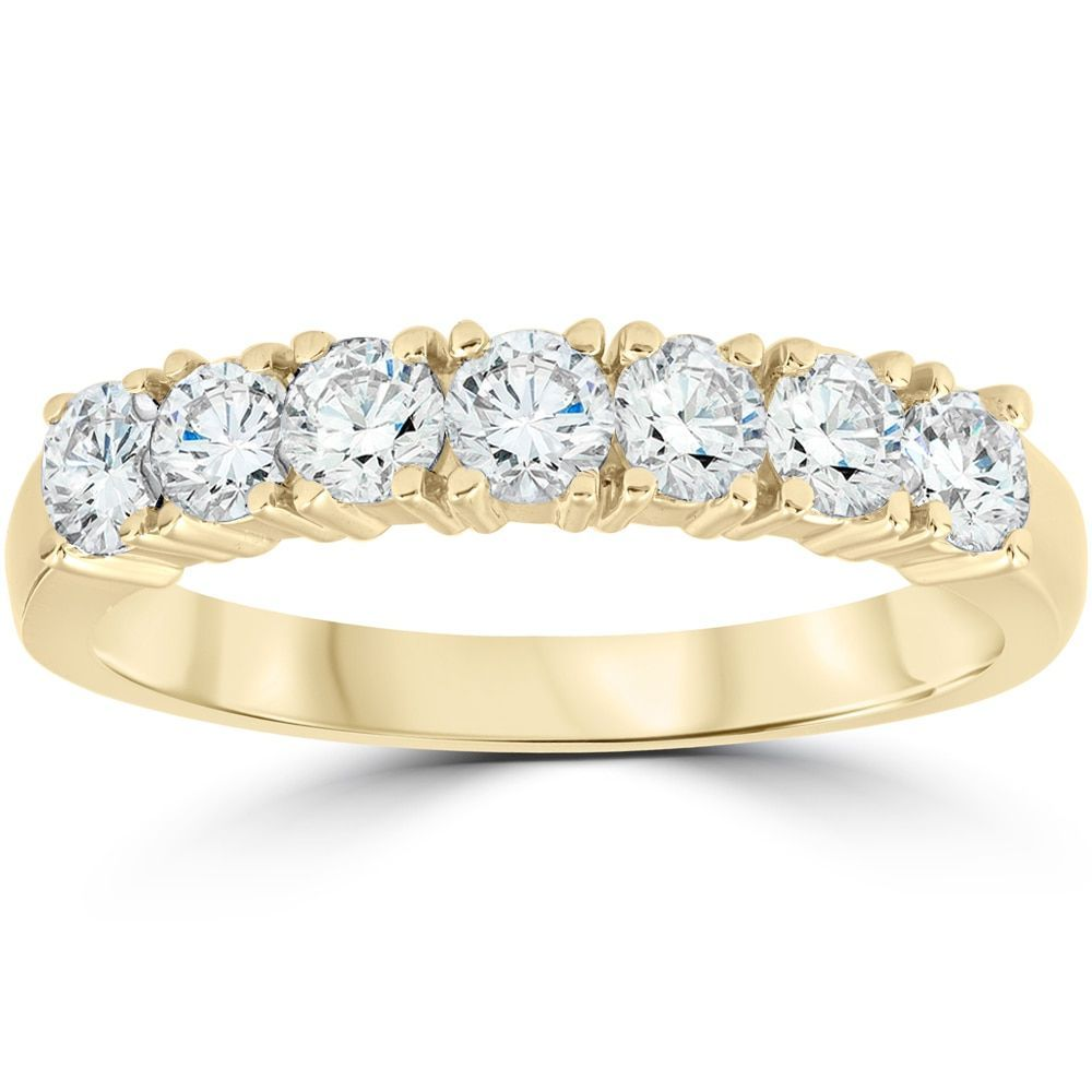 Bliss k yellow gold ct tdw diamond wedding anniversary ring ij