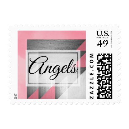 #Pink Angels Postage (1st Class Letter 1oz) - #elegant #gifts #stylish #giftideas #custom