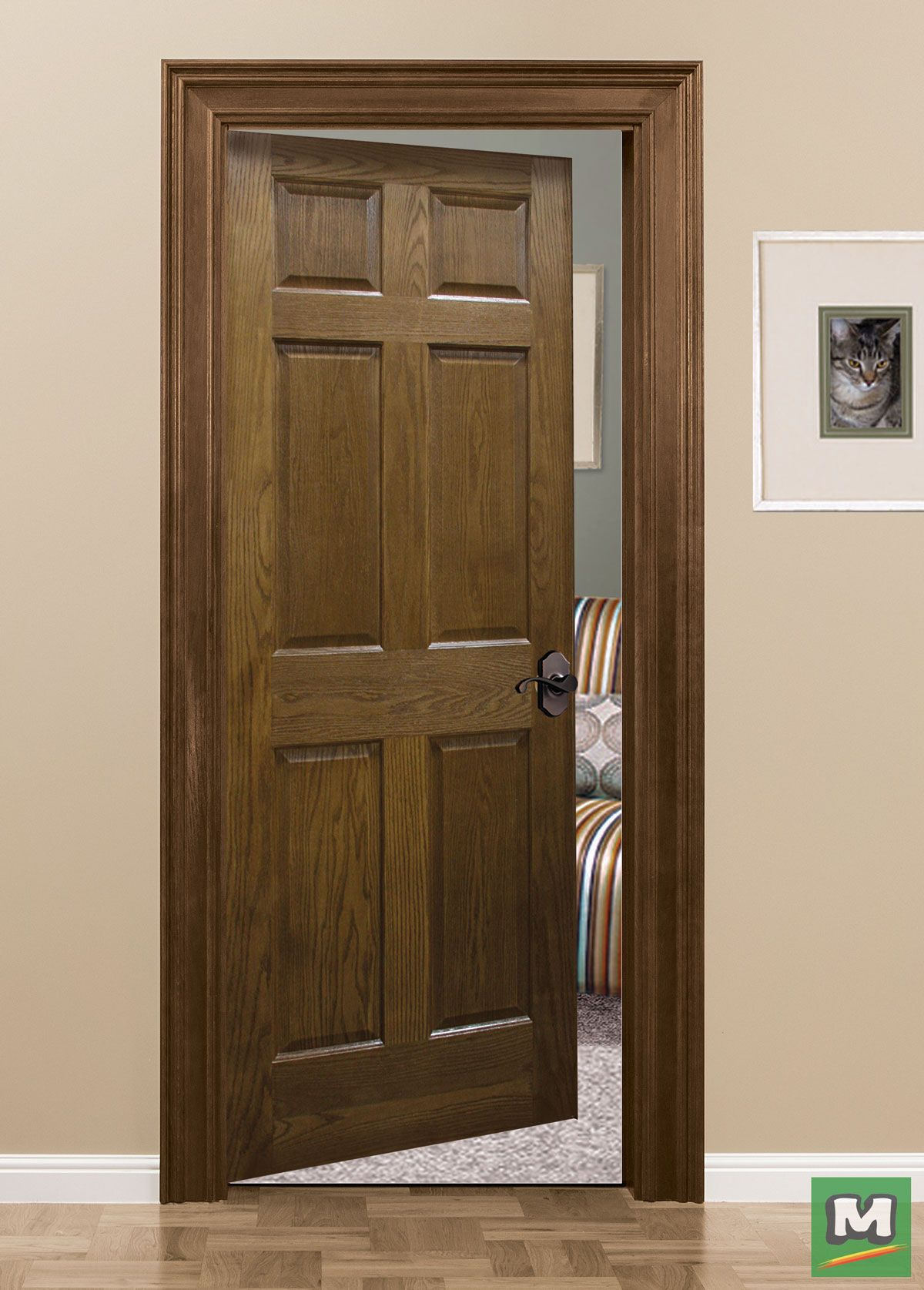The Oak Six Panel Door Style From Mastercraft Displays A Prestigious Charm Evident In Its Carefully Cr Doors Interior Hallway Decorating Interior Design Paint
