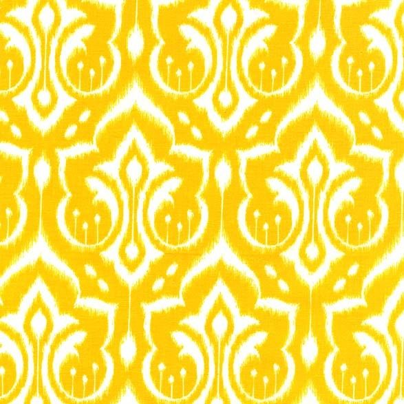 PS6450 ikat damask emmas garden patty sloniger damasks yellow sunshine printed cotton couture hi density cotton