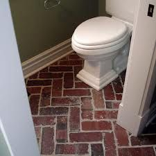 Herringbone Red Brick Flooring Google Search Eclectic Bathroom Brick Flooring Traditional Bathroom