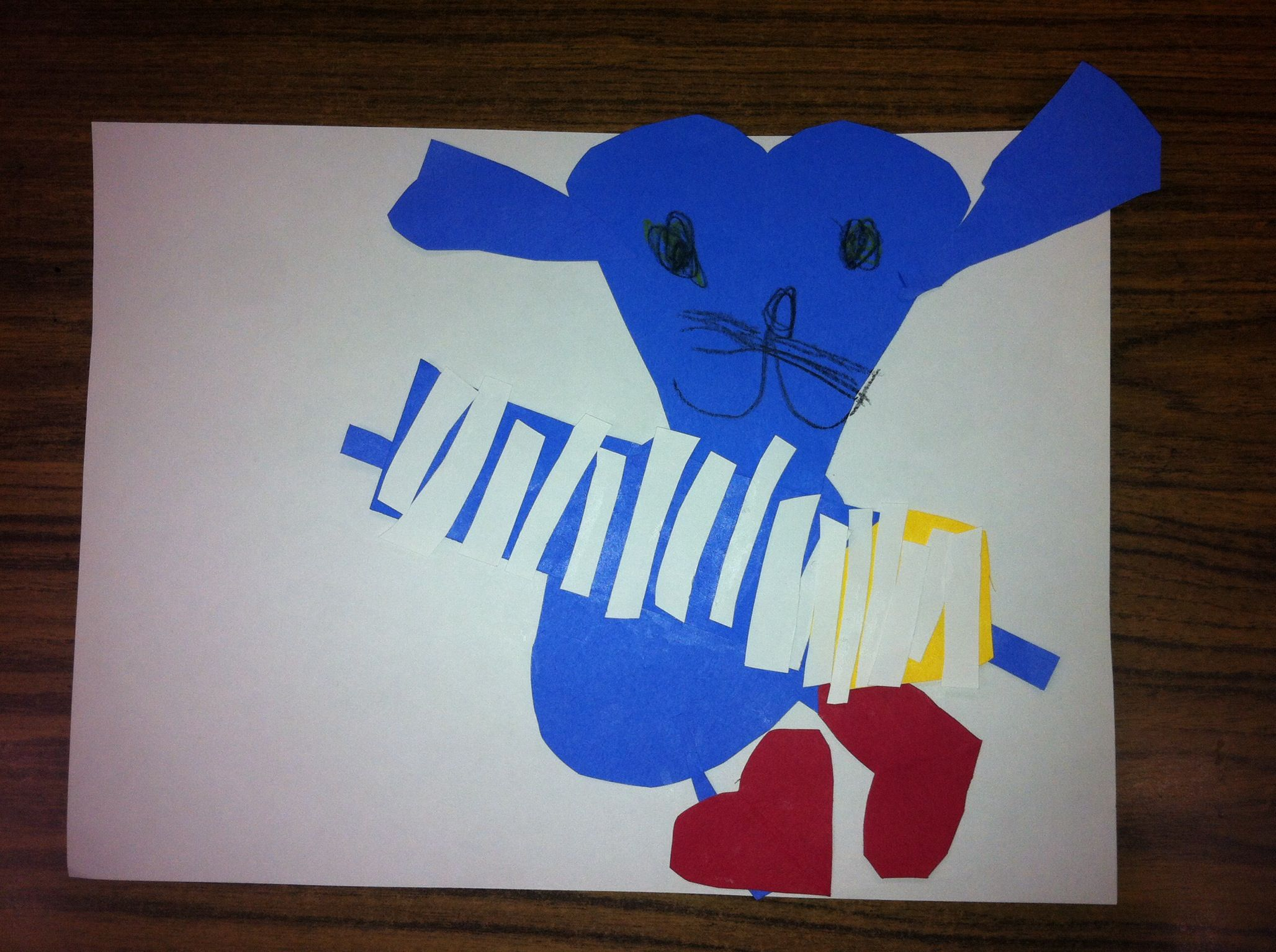 Pete The Cat With Heart Shapes This Student Added A