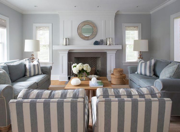 Striped Living Room Lynn Morgan Design