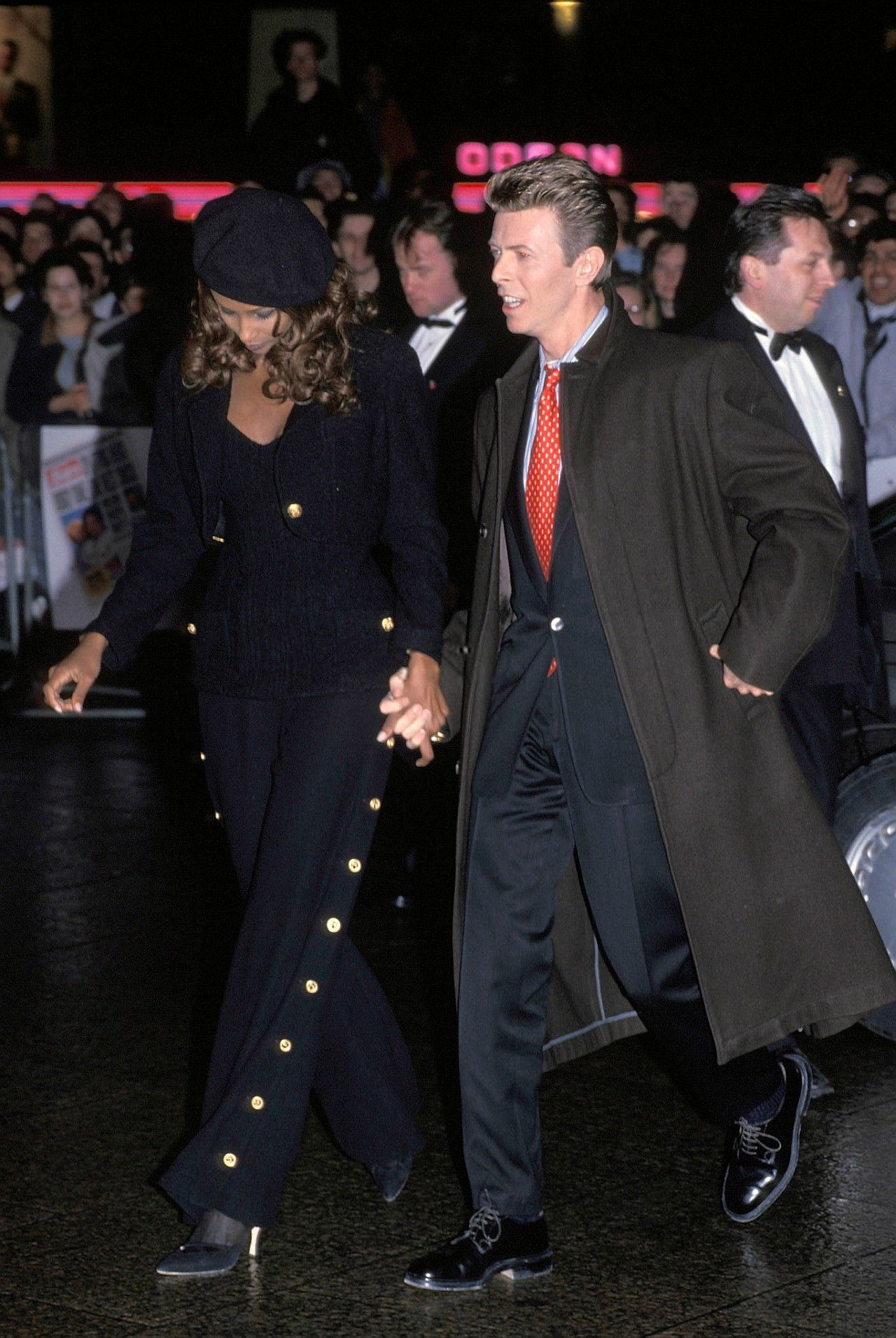 "night-spell: "" Splitting Heirs film premiere, London, Leicester Square, 2 April 1993 """