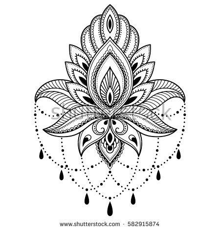 henna tattoo flower template in indian style ethnic. Black Bedroom Furniture Sets. Home Design Ideas