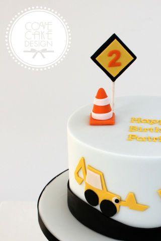 Little boys construction birthday cake Dortky a aminky