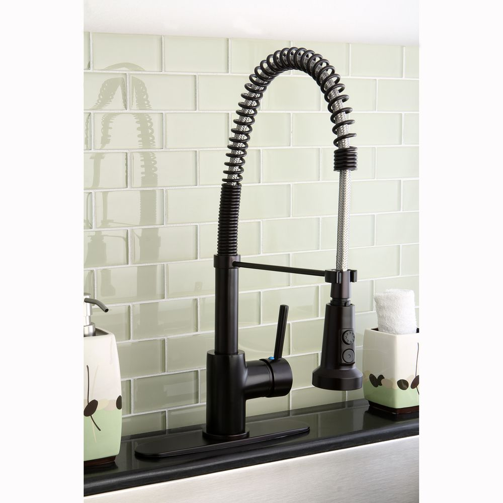 Kingston Brass Concord Modern Oil Rubbed Bronze Spiral Pull-down ...