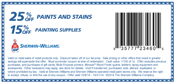 Sherwin Williams Deal Sherwin Williams Coupon Sherwin Williams