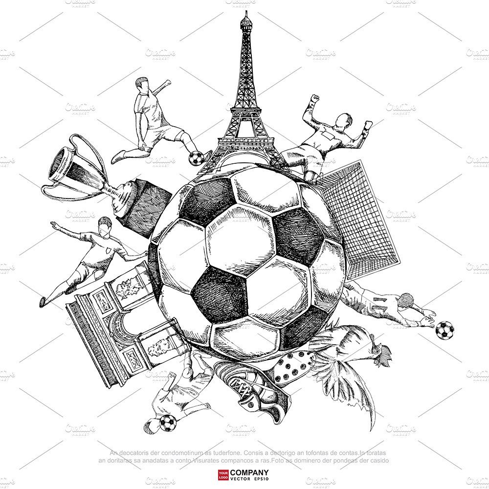 Drawing Of Soccer Tournament Poster Soccer Drawing Soccer Poster Drawings